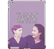 Cristina and Meredith goodbye iPad Case/Skin