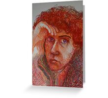 Red - Portrait Of A Woman Greeting Card