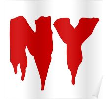 NY (Red) Poster