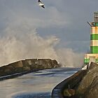 Storm At Ijmuiden by Robert Abraham