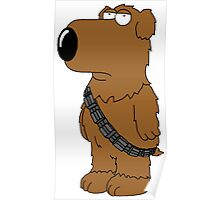 Brian Family Guy Chewbacca Poster
