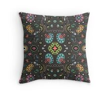 Funky Bloom Throw Pillow