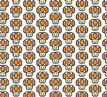 Pixel Orange Toad by poppetini