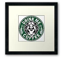 Drink Me Coffee Framed Print