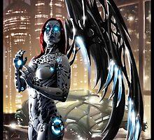 Robot Angel Painting 009 by Ian Sokoliwski