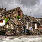 Hawkshead Village and Church by Tom Gomez