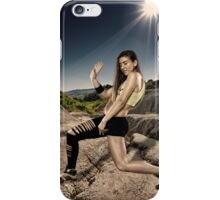 Street dancer doing moves iPhone Case/Skin