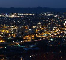 Roanoke at night from Mill Mt Star by labiosa
