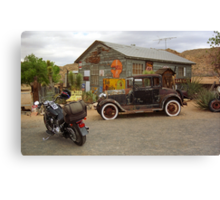 Route 66 Vintage Auto and Shed Canvas Print