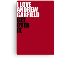 I Love Andrew Garfield Canvas Print
