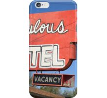 Route 66 - Fabulous 40 Motel iPhone Case/Skin