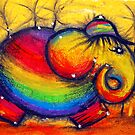 Rainbow Elephant by Karin  Taylor