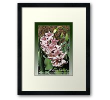 Easter Card with Pretty-in-Pink Hyacinth Framed Print