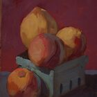 box of peaches by Les Castellanos