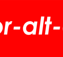 Supr-alt-ctrl Sticker