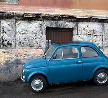 Blue Fiat 500 by Tony Cicero