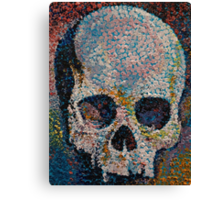 Pointillism Skull Canvas Print