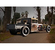 "Rat Rod 'Cemetery Cruz'n"" Photographic Print"