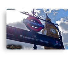"London, England: ""Westminster Underground"" Canvas Print"