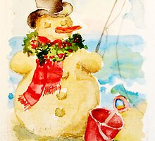 Sandy The Snowman by LuAnnDunkinson