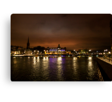 Stockholm at Night (Sweden) Canvas Print