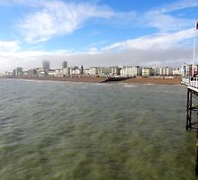 "UK: ""Brighton Pier View"", Brighton & Hove by Kelly Sutherland"