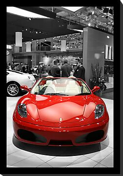 RED FERRARI IN BLACK AND WHITE  by NikolaGTI