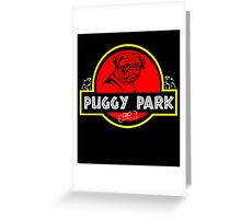 Puggy Park Greeting Card