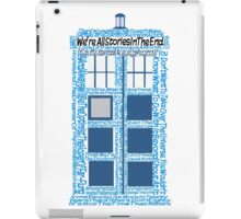 Doctor Who Quotes (White BG) iPad Case/Skin