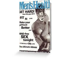 M Blackwell - Men's Health... Greeting Card