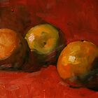 Three Small Oranges by Les Castellanos