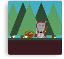 wolf picnic Canvas Print