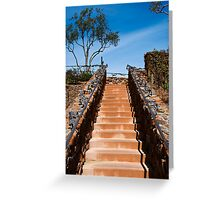 Ornate stairway at Viansa Winery, California Greeting Card