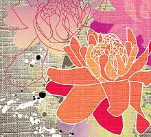 Gingerflower Card on Grey by Tiffany Atkin