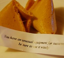 Fortune Cookie Message: Special Equipment by Shai Coggins