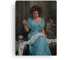 Vintage, Oil painting woman Canvas Print