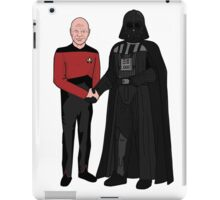 Picard and Vader - Shaking Hands - Can't We All Just Get Along? iPad Case/Skin