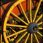 Yellow Cart Wheel by Rod Noendeng