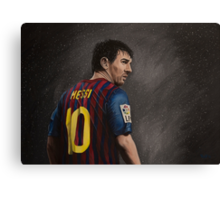 Lionel Messi - Superstar Canvas Print