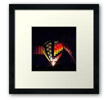Glowing Balloon Framed Print