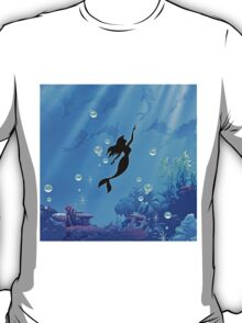 Mermaid Blue Sea T-Shirt