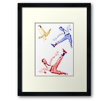 Jumping Fred Flash Framed Print
