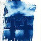 Tower Bridge London Cyanotype Print by willb