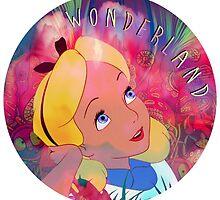 Alice In Wonderland Magic Mushrooms by emalakaite