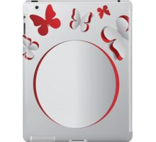 Card with cut out butterflies iPad Case/Skin