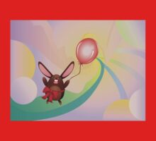 Chocolate Bunny with Balloon 3 Kids Clothes