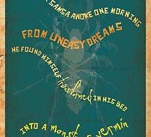 Book Quote - Metamorphosis by Franz Kafka by garyjbuckland