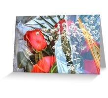 Bouquet with red roses Greeting Card