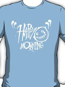 Happy Mourning Logo 2 White T-Shirt