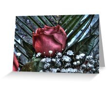 Bouquet with red roses 4 Greeting Card
